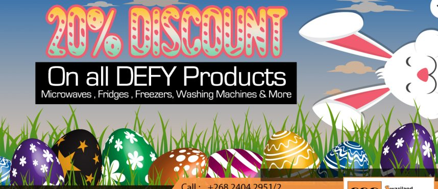 20% EASTER Discount on ALL DEFY products